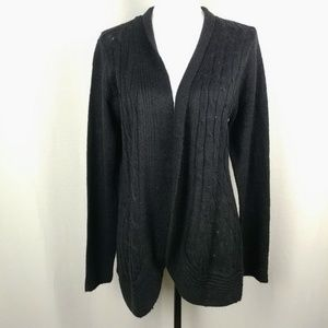Jason Maxwell Black Open Knit Cardigan XL